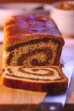 Rolled walnut cake Stock Images