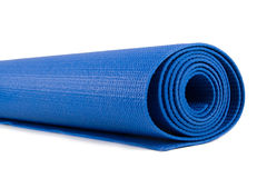 Rolled Yoga or Pilates Mat Royalty Free Stock Image