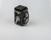 Rolleiflex F3.5 - Model 3 1960-1964. About 50.000 cameras were manufactured. Serial numbers are: 2250000-2299546 Royalty Free Stock Photos
