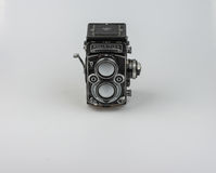 Rolleiflex F3.5 - Model 3 1960-1964. About 50.000 cameras were manufactured. Serial numbers are: 2250000-2299546 Royalty Free Stock Images
