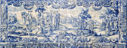 Rollen av vattnet på det 18th århundradet belägger med tegel paneler Royaltyfri Bild