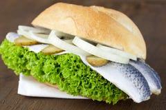 Rollen der frischen Fische Stockbild