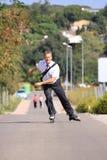Rollen-Schlittschuhläufer Lizenzfreie Stockbilder