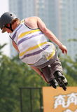 Rollen-Schlittschuhläufer Stockfotos