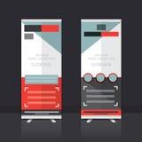 Rollen Sie oben Fahnen-Design Lizenzfreies Stockfoto