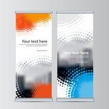 Rollen Sie oben vertikalen Schablonenvektor des Geschäftsfahnendesigns Lizenzfreie Stockbilder