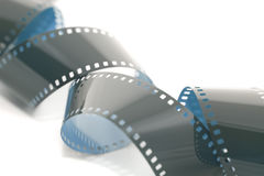 Rollen van 35mm film op wit Royalty-vrije Stock Fotografie