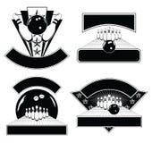 Rollende Auslegungs-Emblem-Schablonen Lizenzfreie Stockbilder