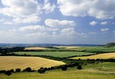Rollende englische Landschaft Stockfoto