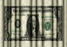 Rollender gewellter Dollar Lizenzfreie Stockfotografie