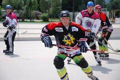 Rollenhockey in Österreich lizenzfreie stockfotos