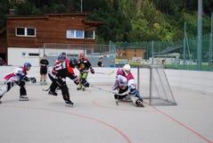 Rollenhockey in Österreich stockbilder