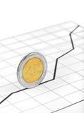 Rollenmünze und -diagramm Lizenzfreie Stockfotos