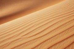 RollenSanddünen der arabischen Wüste Lizenzfreie Stockfotografie