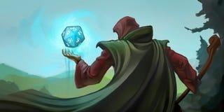 Rollenspiel-Zauberer Lizenzfreie Stockfotos