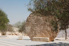 Rollentür, Monument auf Berg Nebo Jordanien, Lizenzfreies Stockfoto