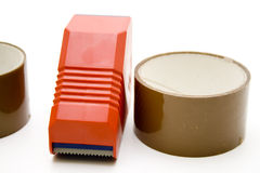 Roller with adhesive tape Royalty Free Stock Photo