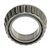 Roller bearing. The steel roller bearing isolated on white Stock Photo
