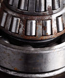 Roller bearing with rust. Close-up Stock Image