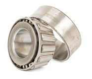 Roller bearing on white. Roller bearing isolated on white background, close up view Stock Photo
