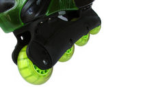Roller blade. Green royalty free stock images