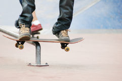 Roller blade park #4. Rollers skaters in skate park Royalty Free Stock Photos