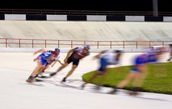 Roller Blade Racing Royalty Free Stock Images