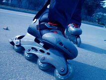 Roller-blades. A pair of rollerblades stock photos