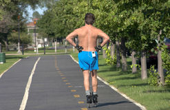 Roller Blading Royalty Free Stock Photos