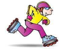 Roller blading royalty free illustration