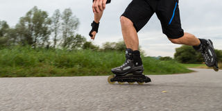 Roller blading Royalty Free Stock Photography