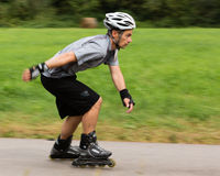 Roller blading Royalty Free Stock Images
