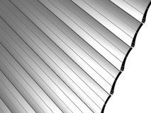 Roller blinds. Direct surface consisting of a rolling profile stock illustration