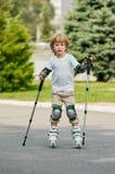 Roller boy. first step Stock Photos