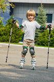 Roller boy fun Royalty Free Stock Photo