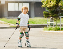 Roller boy. outdoor Stock Images