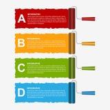 Roller brush infographics options banner. Design template. Vector illustration Stock Photo