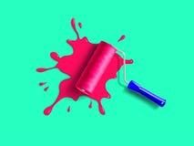 Roller brush splash stock illustration