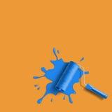 Roller brush splash Stock Photo