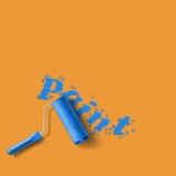 Roller brush splash Royalty Free Stock Images
