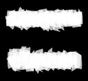 Roller brush strokes stylized painted surface in white on black Stock Photos