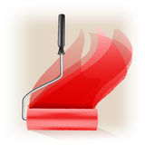 Roller brush symbol Royalty Free Stock Images