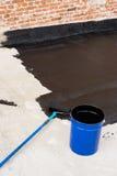 Roller brush waterproofing Stock Photos