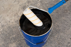 Roller brush waterproofing Stock Images