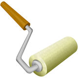 Roller brush on white background Royalty Free Stock Photo