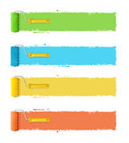 Roller Brushes With Stripes for Your Text. Vector Royalty Free Stock Photos