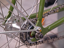 The Roller Chain of a Bicycle Stock Image