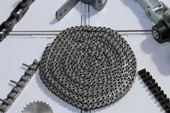 Roller Chains stock photo