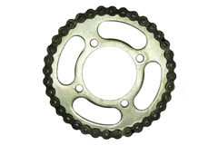 Roller chains with sprockets Stock Photos