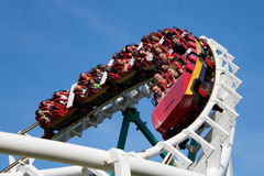 Roller coaster. In park Divo island Sankt-Peterburg city stock photos